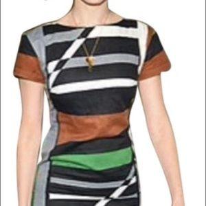 Derek Lam, 10, Color Block Mod Sheath Dress